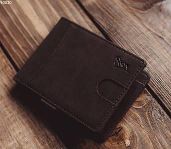 Мужское портмоне из экокожы Staff brown metal QWE0020 коричневый