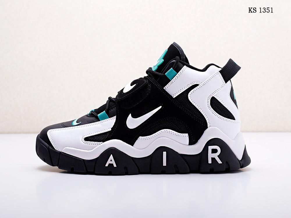 Чоловічі кросівки Nike Air Barrage Mid (чорно-білі) 1351
