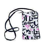 Женская сумочка для телефона LOVE (10х16 см), фото 1