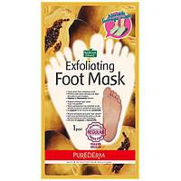 Отшелушивающая пилинг-маска для ног Purederm Exfoliating Foot Mask