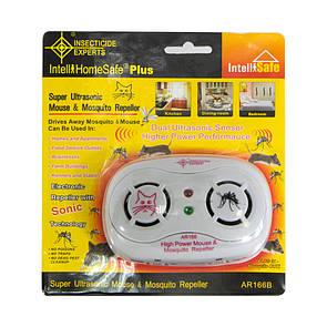 🔝 Отпугиватель мышей и комаров, AR 166B, ультразвуковой отпугиватель, ультразвук от комаров  | 🎁%🚚