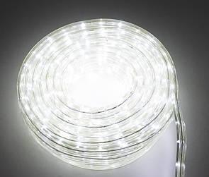 🔝 Светодиодная гирлянда дюралайт, уличная, LED (белый свет), 10 метров, (доставка по Украине) | 🎁%🚚