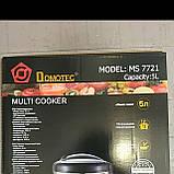 Мультиварка Domotec MS 7721,11 програм,5 литров 900 Вт, фото 2
