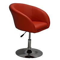 Кресло Мурат парикмахерское, мягкое, хром, цвет красный