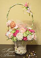 """Букет з цукерок з феєю Анна Геддес """"Рожева фея"""", фото 1"""