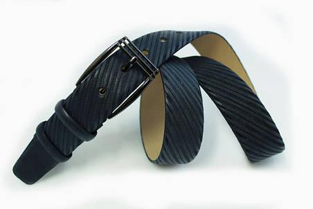 Классический кожаный ремень с тиснением, фото 2