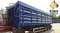 Тентовая накидка из ткани ПВХ  на кузов длиной до 11,0 м шириной до 2,55 м с комплектом для установки