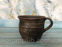 Чашка из красной глины гончарная 400 мл