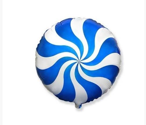 """Фольгована кулька коло льодяник синій 18"""" Китай"""