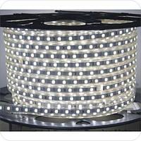 Светодиодная лента на 60 диодов smd 5050 220 В холодный белый (6500К)