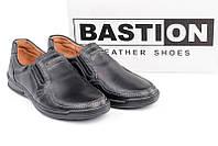 BASTION мужские кожаные прошитые туфли в стиле casual