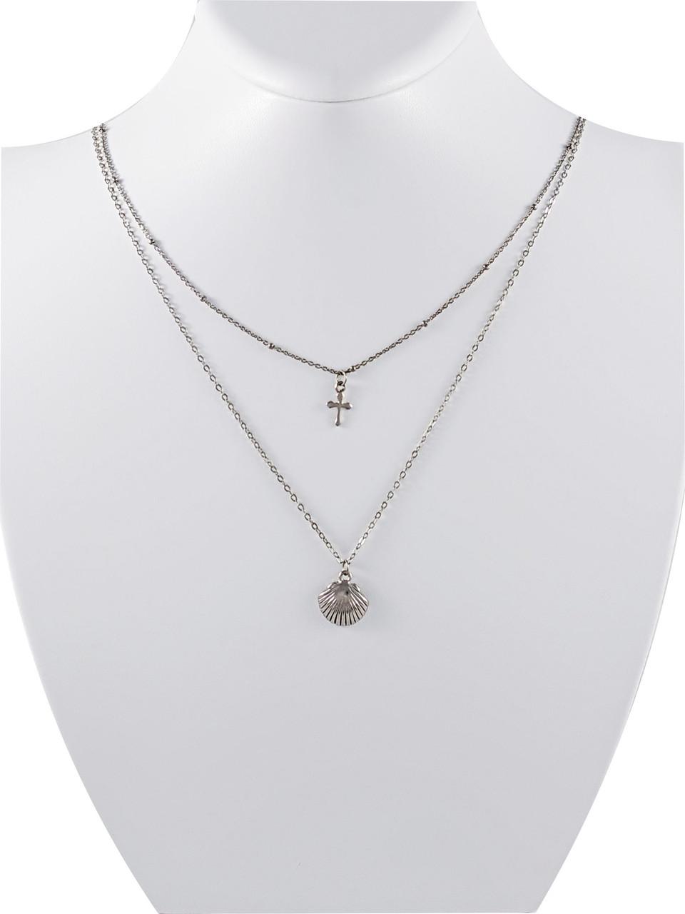 Колье серебряное NL856G