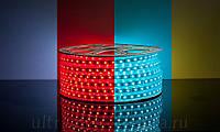 Светодиодная лента ip67 на 60 диодов smd 5050 220 В rgb, фото 1