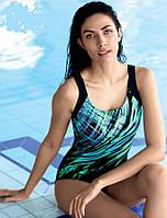 Купальник Self  для бассейна с ярким принтом спинка борцовкой
