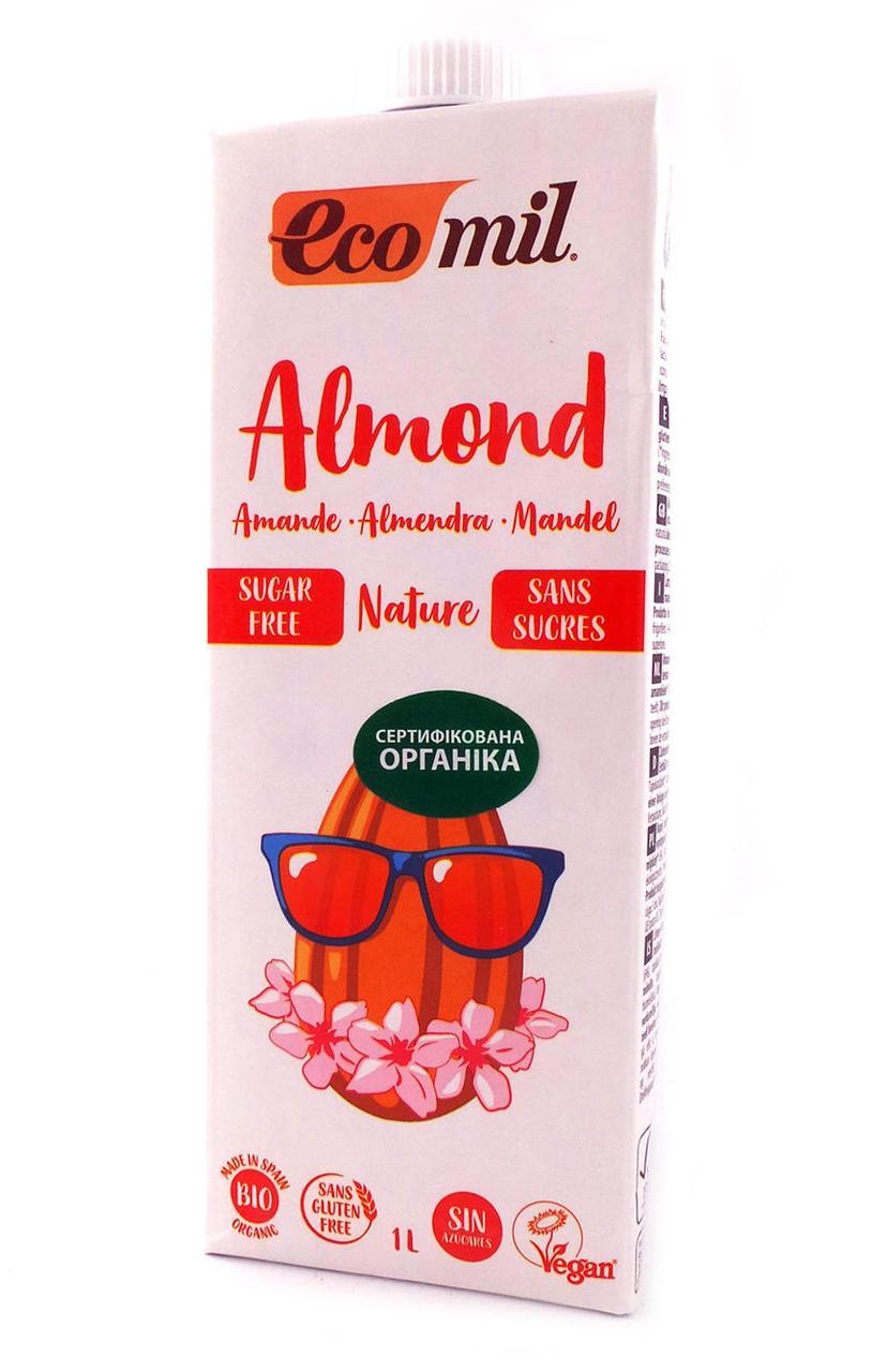 Органическое растительное молоко с миндаля без сахара , 200 мл,  Ecomil