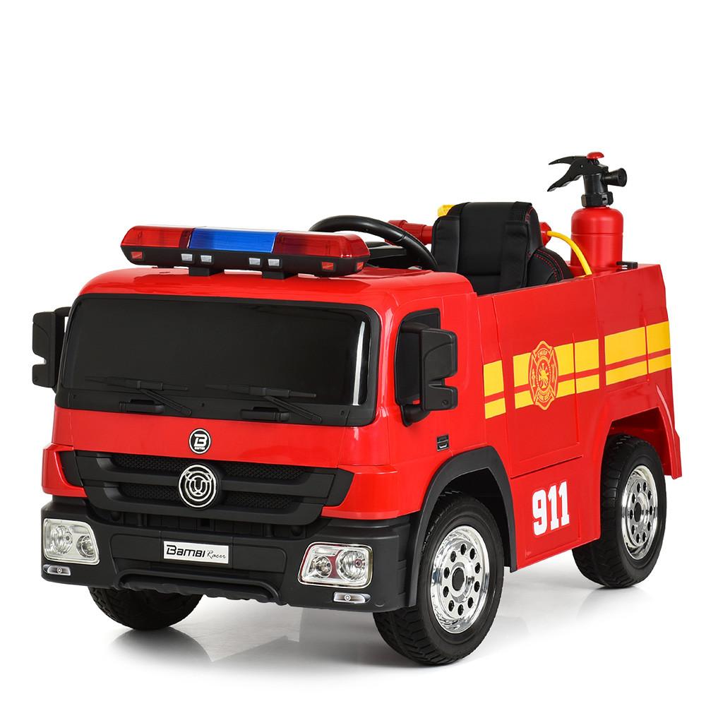 Детский электромобиль Пожарная машина M 4051EBLR-3