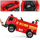 Детский электромобиль Пожарная машина M 4051EBLR-3, фото 3