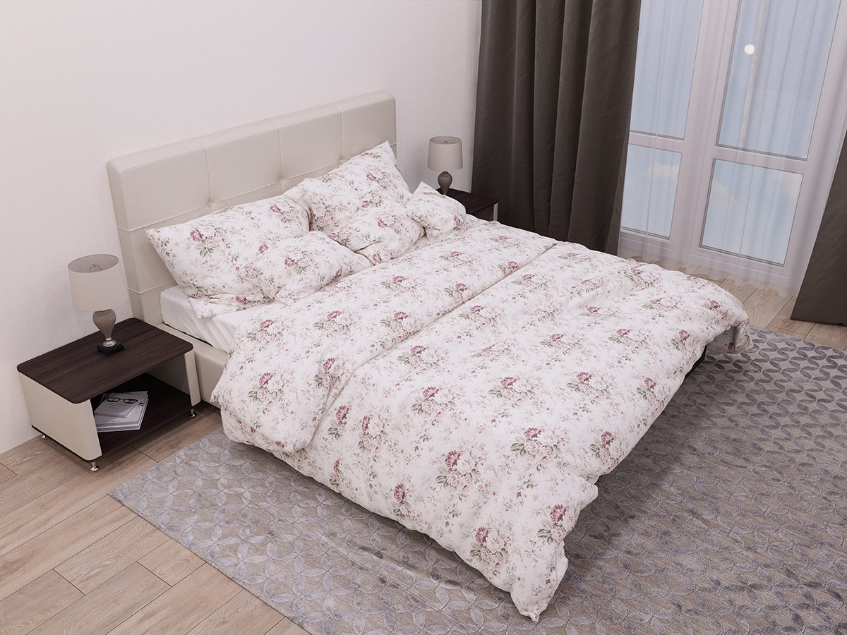 Двуспальный комплект постельного белья евро 200*220 хлопок  (13762) TM KRISPOL Украина