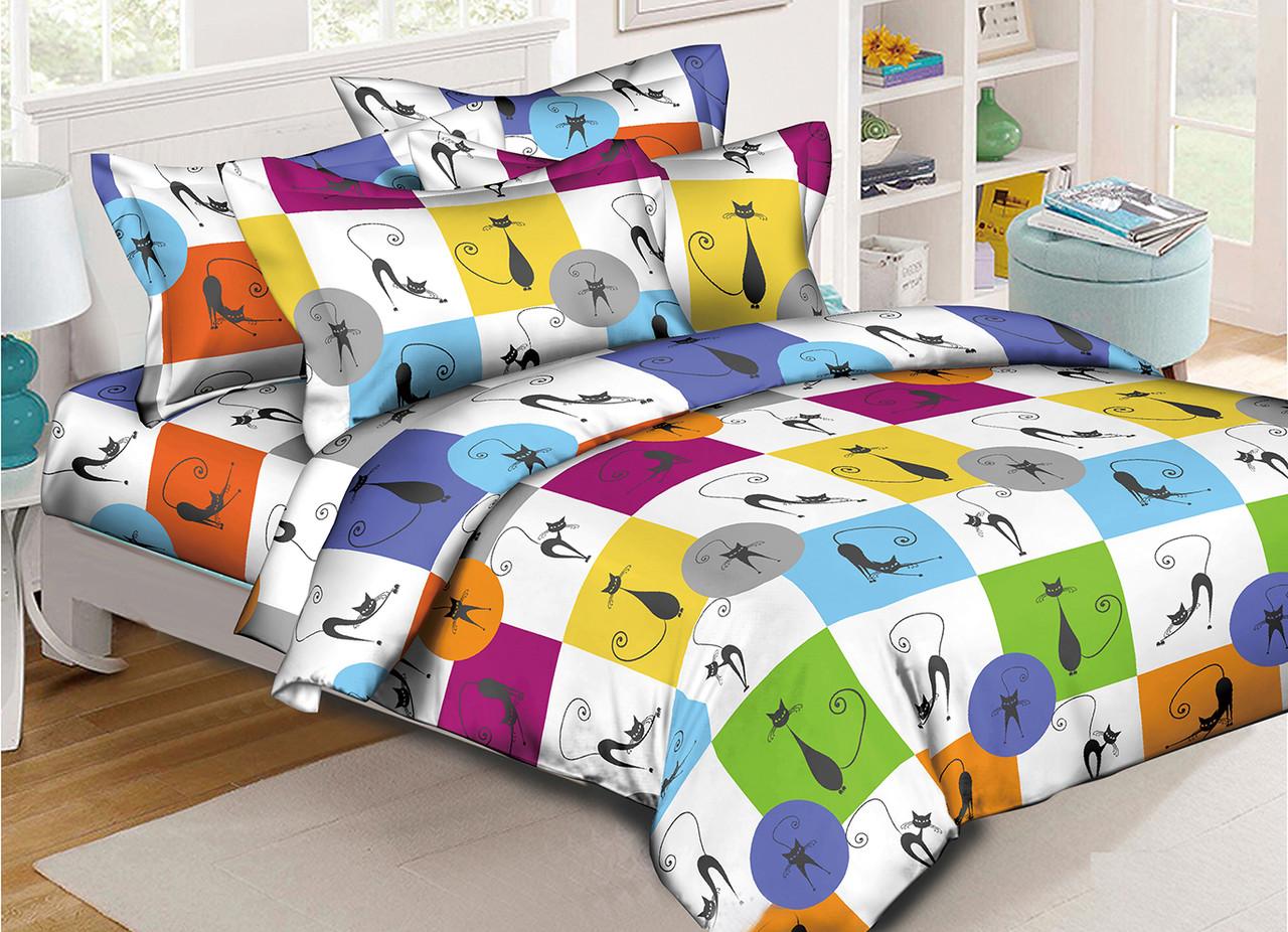 Двуспальный комплект постельного белья евро 200*220 хлопок  (13763) TM KRISPOL Украина