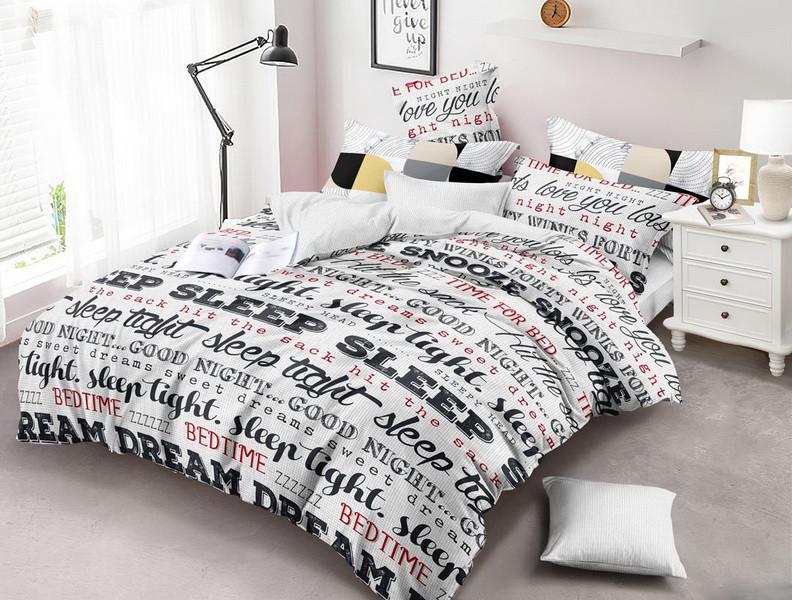 Двуспальный комплект постельного белья евро 200*220 хлопок  (13748) TM KRISPOL Украина