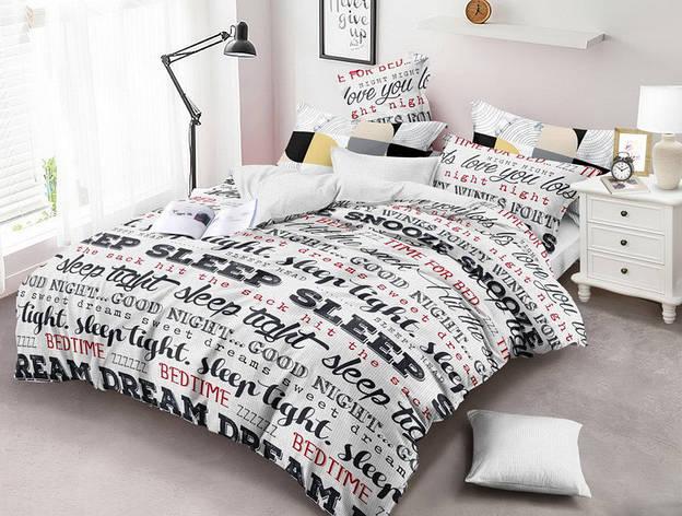 Двуспальный комплект постельного белья евро 200*220 хлопок  (13748) TM KRISPOL Украина, фото 2