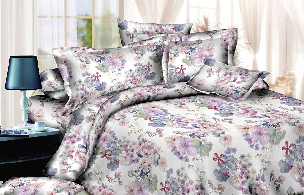 Двуспальный комплект постельного белья евро 200*220 хлопок  (13752) TM KRISPOL Украина