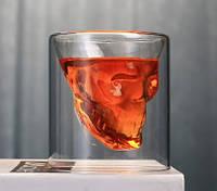 """Набор стопок с двойными стенками """"Череп"""" Helios для алкогольных напитков 80 мл 2 шт (6735)"""