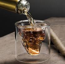 """Набор стопок с двойными стенками """"Череп"""" Helios для алкогольных напитков 80 мл 2 шт (6735), фото 2"""