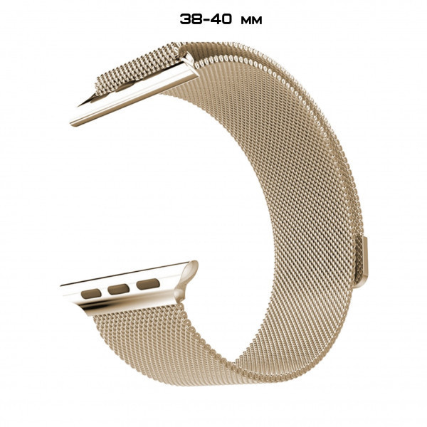 Ремешок Apple Watch Milanese Loop 38/40 Beige-gold
