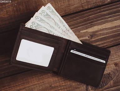 Мужское портмоне из экокожы Staff brown QWE0019 коричневый