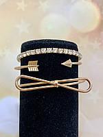 Комплект браслетов 3 в 1 в золоте