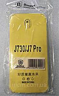 Прозрачный силиконовый чехол для Samsung J7 / Pro