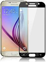 Защитное стекло 5D для Samsung А7 (2017) черный