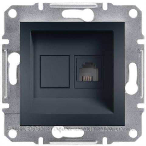 Телефонная розетка Schneider Asfora Антрацит (EPH4100171)