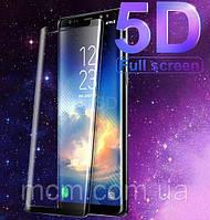 Защитное стекло 5D для Samsung A6 2018 чёрный
