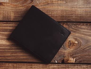 Мужское черное портмоне из экокожы Staff black QWE0018