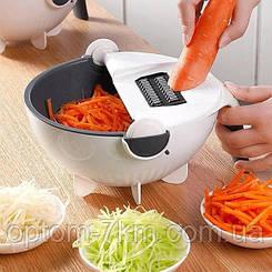 Универсальная овощерезка с дуршлагом Wet basket vegetable cutter Jw