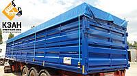 Тентовая накидка из ткани ПВХ  на кузов длиной до 13,0 м шириной до 2,55 м с комплектом для установки
