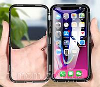 Магнитный чехол на Iphone 8, Серебристый