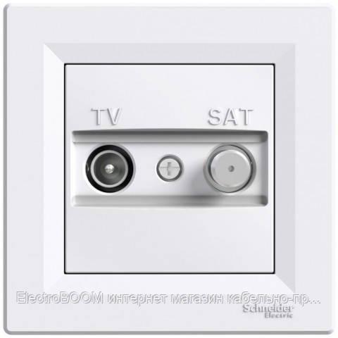 Розетка TV/SAT индивидуальная Schneider Asfora Белый (EPH3400421)