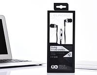 Проводные наушники с микрофоном внутриканальные Elmcoei EV108 Dolby черные