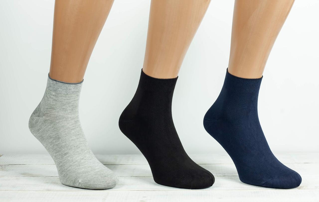 Чоловічі носки Calze More шкарпетки з модала однотонні  41-44 12 шт в уп мікс кольорів