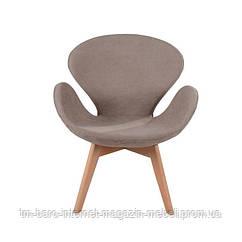 Кресло Сван Вуд Армз коричневый, бук, ткань