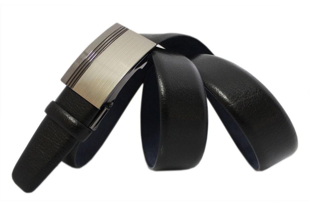 Классический кожаный ремень с пряжкой автоматического защелкивания