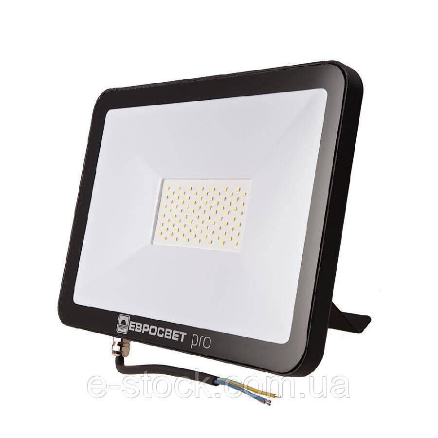 Прожектор світлодіодний ЕВРОСВЕТ 50Вт 6400К EV-50-504 PRO-XL 4500Лм