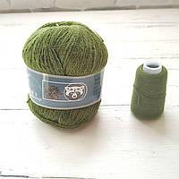 Пух норки № 838 зеленый