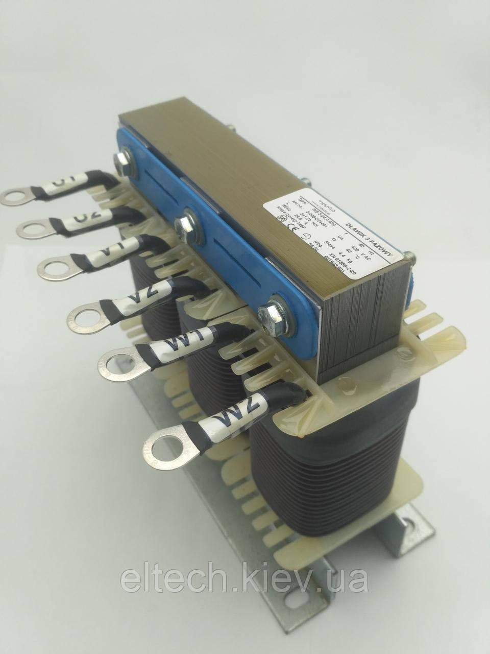 INS 3-24-400; 24А, трехфазный сетевой дроссель 4%