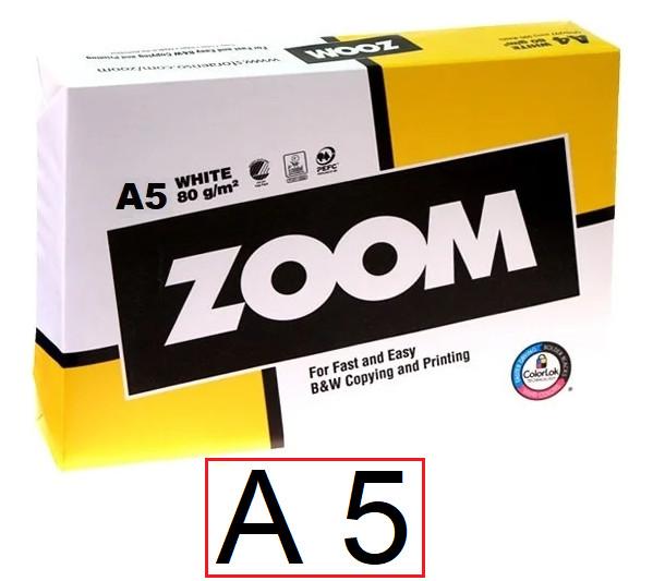 Офисная бумага Zoom 80 г/м2 класс С - А 5