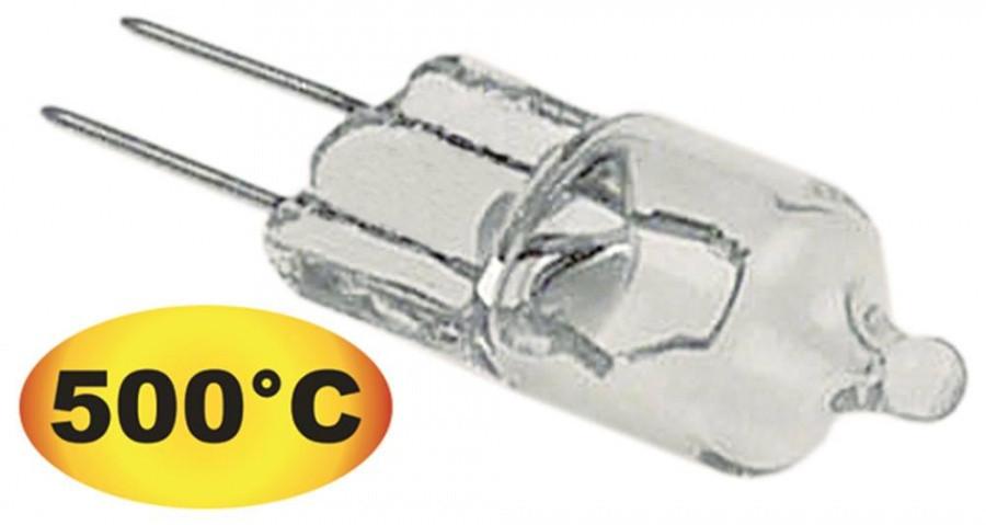 Лампочка G4 +500°C (10W / 12V) термостойкая галогеновая для пароконветомата и пицца-печи