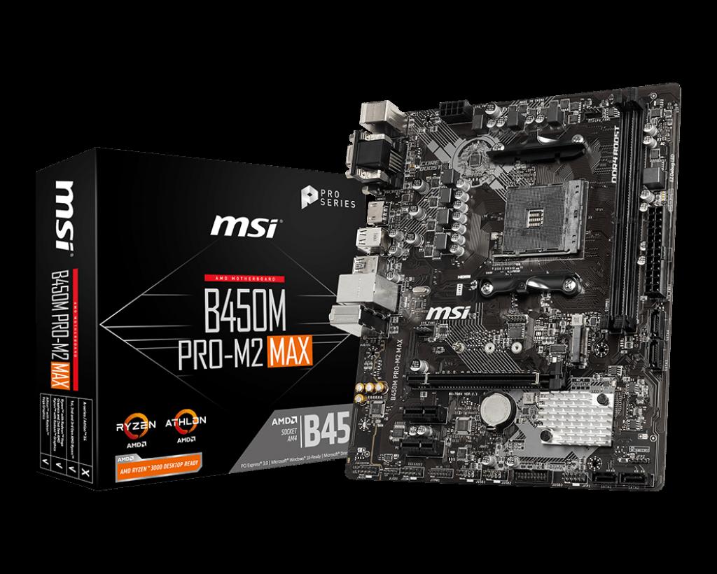 Материнская плата MSI B450M PRO-M2 MAX (sAM4/B450/mATX)